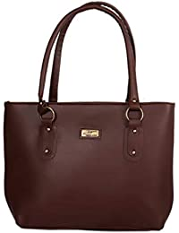 DN DEALS Women's PU Handbag Bag (Dark Brown)