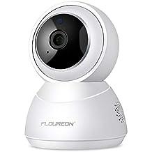 FLOUREON Cámara de IP Seguridad YI Cloud Inalámbrica WiFi HD Home 1080P Cámara de Giro/