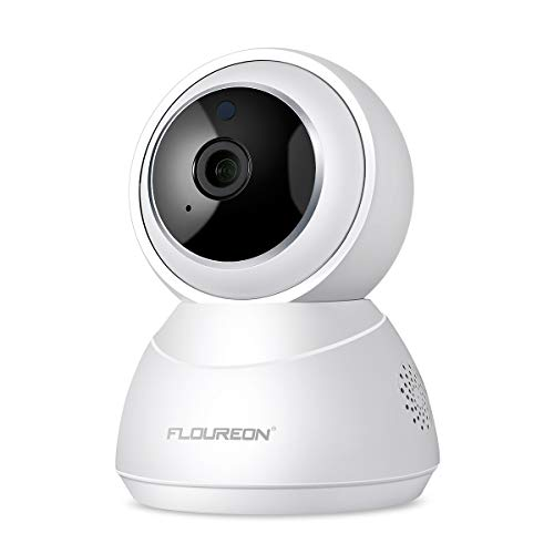 FLOUREON Cámara de IP Seguridad YI Cloud Inalámbrica WiFi HD Home 1080P  Cámara de Giro/inclinación/Zoom en Interiores con Visión Nocturna, Audio