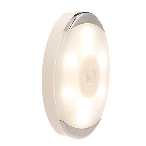 Lilideni 6 Stücke Weiß Oval LED Sensor Licht Drahtlose Bewegung Abnehmbare Abdeckung 8 LED Perlen Nachtlicht Closet Licht Geeignet für Schubladen Schrank Kleiderschrank Schlafzimmer Licht Unter -