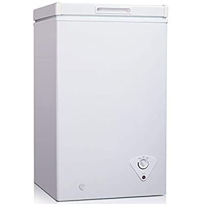 Cookology CCF60WH White Chest Freezer for Outbuildings, 60L 50cm Compact 4* star