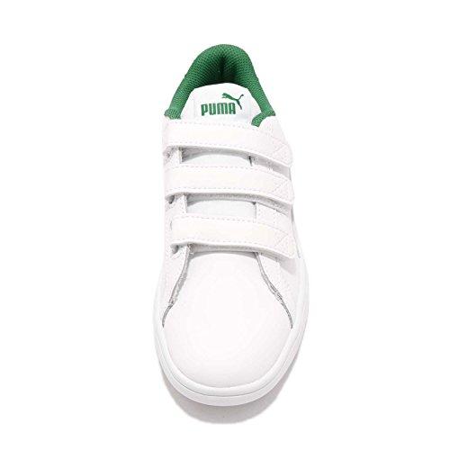 Puma Men s Smash V2 V  White White-Amazon Green  9 M US