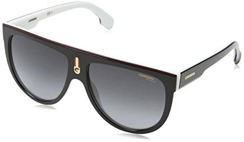 Carrera Unisex-Erwachsene FLAGTOP 9O 80S Sonnenbrille, Schwarz (BLACK WHITE/DARK GREY SF), 60