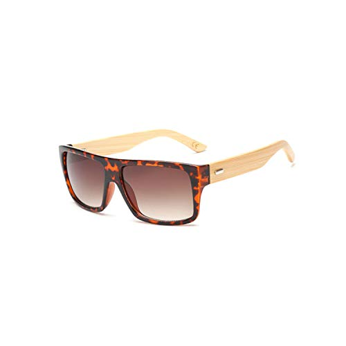 Sport-Sonnenbrillen, Vintage Sonnenbrillen, Original Wooden Bamboo Sunglasses Men Women Spiegeled UV400 Sun Glasses Real Wood Shades Gold Blue Outdoor Goggles Sunglases Male KP1523 C10 Lep Brown
