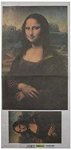 Renkalik renkalikqsito010t 23x 50cm Monna Lisa Seda impresión Hoja de Papel de Toalla (Juego de)