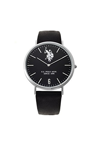 US Polo Association USP4360BK - Reloj Analógico Para Hombre, color Blanco/Marrón