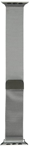 Galleria fotografica Apple Watch Band, Penom a chiusura magnetica chiusura mesh passante milanese acciaio inossidabile Cinturino in acciaio, 42mm, colore: Argento