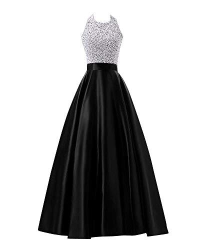 Damen Kleider Elegant Festlich Hochzeit Kleid Lang Abendkleid -