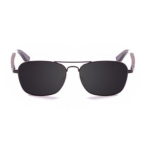 Paloalto Sunglasses Baja Sonnenbrille Unisex Erwachsene, Mate Black Metal/Wood