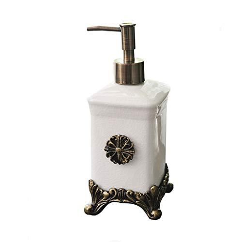 Vintage Keramik Pumpe Flüssigseifenspender Badezimmer Spüle Hand Seifenspender Duschgel Pumpe Lotion Flasche (Color : White) (Hand-seifenspender Nachfüllen)