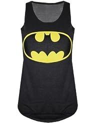 Nieuwe dames vrouwen Batman Logo Comic Superhero Vest Tank Top Sweatshirt Maat 8-14