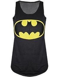 New femmes de dames de logo de Batman Comic Superhero Vest Tank Top Taille 36-42