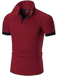 Gnaixeh Polos De Manga Corta De Algodón Hombres Camisetas De Golf Vuelta-Ahogó Camisetas De Golf
