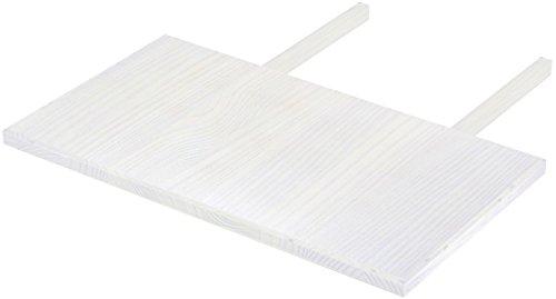 Brasilmöbel Ansteckplatten 50x90 Pinie Weiss Rio Classiko oder Rio Kanto - Pinie Tischverlängerung Echtholz - Größe & Farbe wählbar - für Esszimmertisch Holztisch Tisch ausziehbar