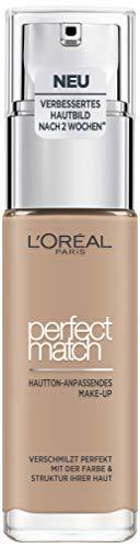 L\'Oréal Paris Perfect Match Foundation, flüssiges Make-Up, deckend und feuchtigkeitsspendend für einen natürlichen Teint - 4N beige (30 ml)