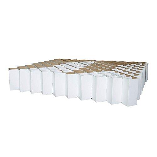 ROOM IN A BOX Bett 2.0 L/Weiß: Klappbett aus Wellpappe 160 180 200 x 200 cm und Zwischengrößen. Auch als Gästebett. Lattenrost Nicht nötig. (Futon-sofa-rahmen)