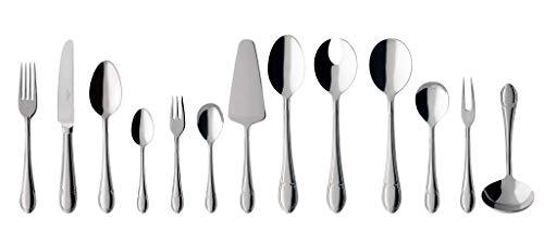 Villeroy & boch mademoiselle posate da tavola per 6 persone, 68 pezzi, acciaio inossidabile, metallo