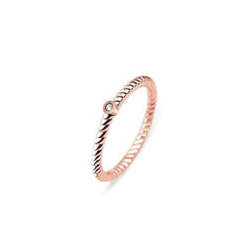 PAUL HEWITT Ring Damen North Star - Damenring vergoldet mit Swarovski-Stein, Damen Ring Rosegold