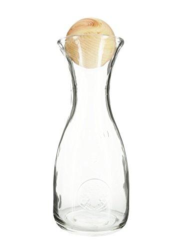 Original ZirbenKugel mit PEFC-Zertifizierung inkl. Zirben-Wasserkaraffe Misura (1 Liter) | 7cm-Verschluss aus zertifiziertem Zirbenholz