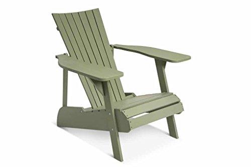 Lanterfant - Adirondack Gartensessel Fred, Gartenstuhl, Lounge Sessel, Akazien Holz, Erhältlich in fünf Farben, Grün -