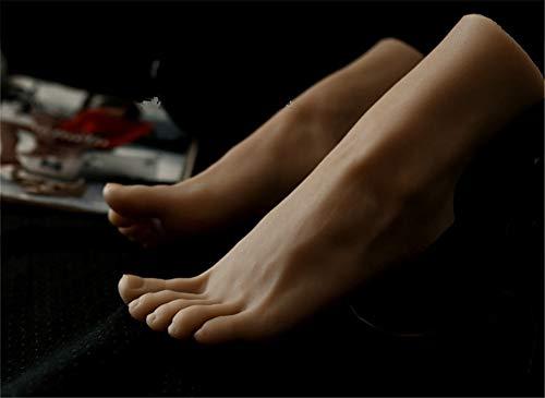 Preisvergleich Produktbild 1 Para Silikon Fuß Mannequin Schmuck Sandale Socke Display Kunst Skizze Fußfetisch Spielzeug Für Weibliche Weizenfarben