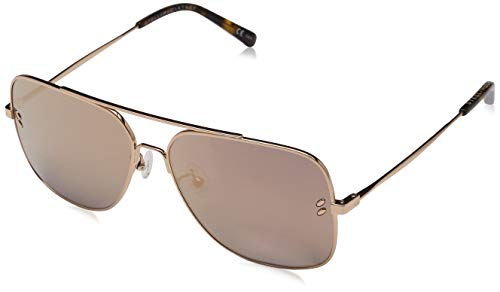 Stella McCartney Unisex-Erwachsene SC0055S 004 Sonnenbrille, Gold (004-Gold/Gold), 59