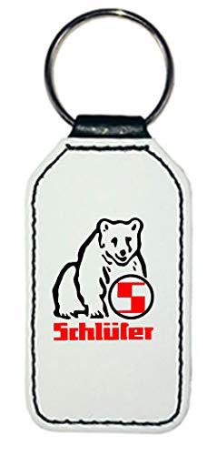 Leder Schlüsselanhänger | Schlüter Logo | rechteckig | weiß