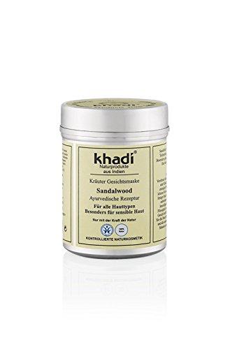 khadi Gesichtsmaske mit Sandelholz 50g I Natürliche Gesichtspflege für empfindliche und trockene...
