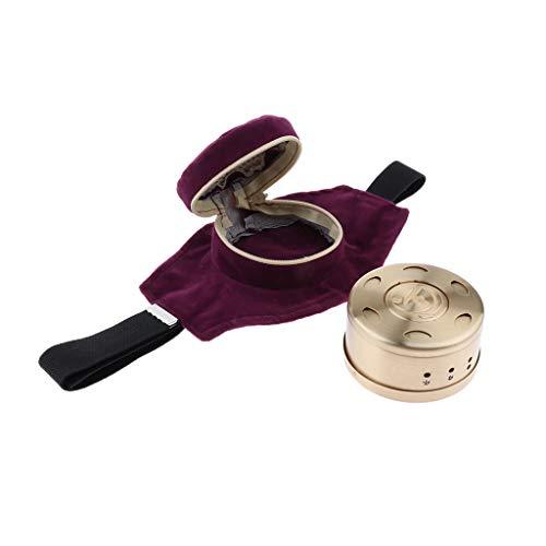 F Fityle Kupfer Moxa Stick Burner Box mit Verstellbarer Tasche Moxibustion Behandlung für Hals Knie Arthritis Schmerzen zu entlasten - Lila (Taschen Behandlung Von Und Boxen)