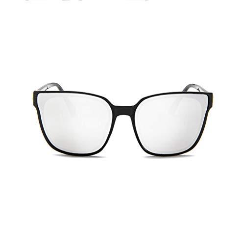 PinkLu GläSer Damen Retro Rahmenspiegel Mode Brillengestell Flache GläSer GroßE Strahllinse Schatten Sonnencreme Mode Temperament Sommer Neuer HeißEr Verkauf 6-Farbige Brille