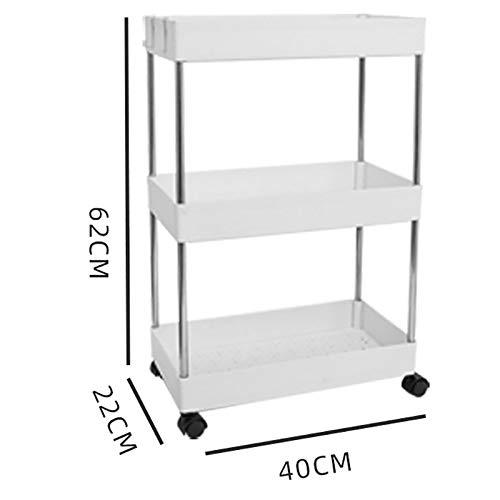 WSC Bad Pulley Dollies Lagerung Regal, der bewegliche Boden Mehrschichtige Storage Rack (Farbe : A, Größe : 62cm×22cm×40cm)