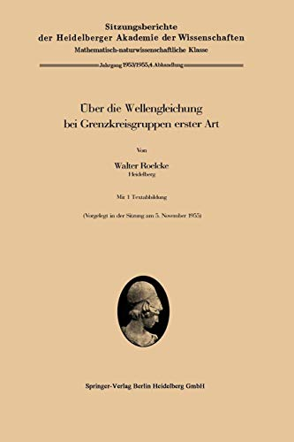 Über die Wellengleichung bei Grenzkreisgruppen erster Art (Sitzungsberichte der Heidelberger Akademie der Wissenschaften)