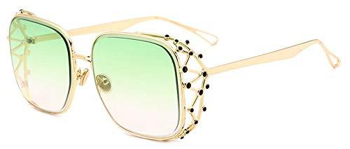 LAMAMAG Sonnenbrille Steampunk Square Sonnenbrillen Frauen Diamant Kristall Sonnenbrille Weibliche Übergroße Shades Mode Brillen, 7