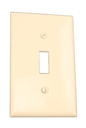 Leviton 1Gang Gerät Schalter Wanddose Standard Größe TPU Nylon Gerät Halterung Elfenbeinfarben, - Almond Wall Light Plate