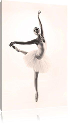 sthetische-Ballerina-SchwarzWei-Format-100x70-auf-Leinwand-XXL-riesige-Bilder-fertig-gerahmt-mit-Keilrahmen-Kunstdruck-auf-Wandbild-mit-Rahmen-gnstiger-als-Gemlde-oder-lbild-kein-Poster-oder-Plakat