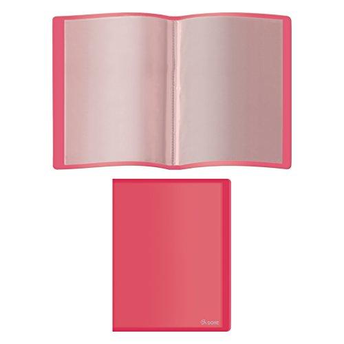 Dohe 91392 - Carpeta polipropileno con 40 fundas, flexible, color rojo