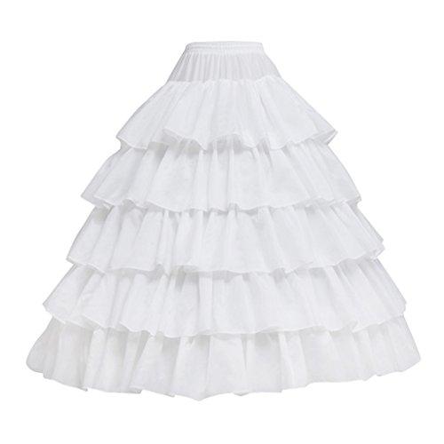 Cosplayitem 4 Reifen 5 Schichten Unterrock Petticoat Underskirt Crinoline für Prinzessin Kleid...