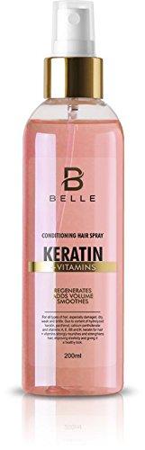 Belle® Kératine vitamines Cheveux Spray – régénérant et fortifiant Cheveux Spray – pour tous les types de cheveux – Cheveux \\