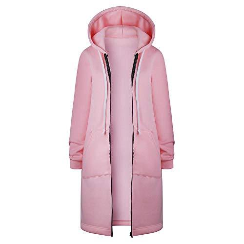 Set Winter warm lang Hosenanzug Sleepwear Unisex Sweatshirt, 4d gedruckt Jungen und Paar pärchen Druck Sweatjacke Kapuzenjacke Geliebte Kleidung Hooded Rosa,XL