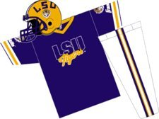 Franklin Sports NCAA Louisiana State University Tigers Youth Team Uniform Set, klein