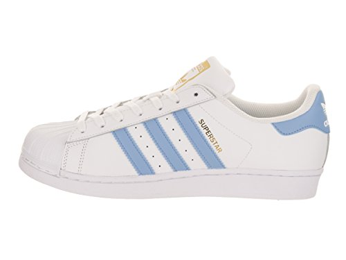 adidas Mens Superstar Foundation Leather Trainers Bleu Blanc