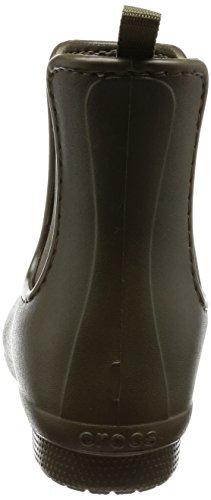 Crocs Freesail Chelsea Boot Women, Stivali di Gomma Donna Verde (Dark Camo Green)