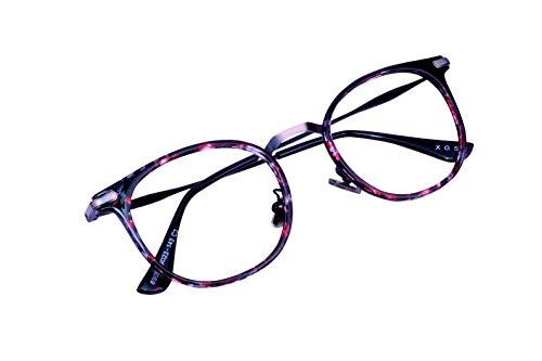 Lensport Eyewear Titanium Round Eye Frame Pink Multicolour Girl's and Boy's Eyeglasses (Clear)