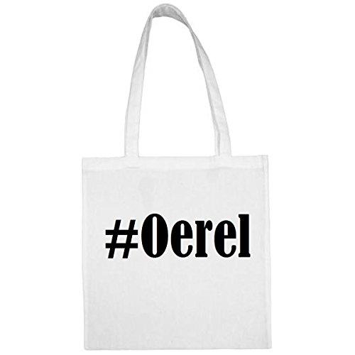 Tasche #Oerel Größe 38x42 Farbe Weiss Druck Schwarz