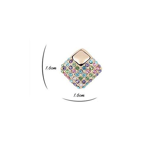 Erica Cristal Plaqué Or Sparkling autrichienne Cube Boucles d'oreilles cadeau parfait pour Femmes Filles #1
