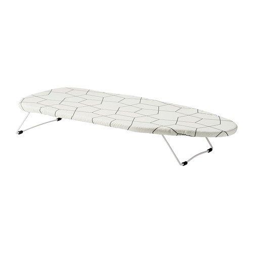Ikea Bügelbrett Tisch, Polyester, Weiß, 74x32x3 cm