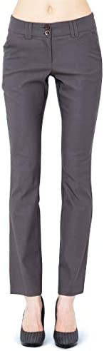 REGULAR RISE STRAIGHT FIT PANTS