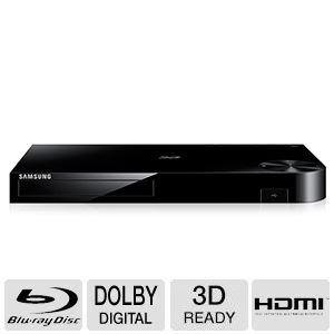 Samsung 4K Upscaling 3D Blu-ray Disc Player With Built In Wi-Fi, Full Web Browser, AllShare, UDHD Upscale, DTS Surround Sound, Dolby True, BD Wise, Plus Superior 6Ft High Speed HDMI Cable