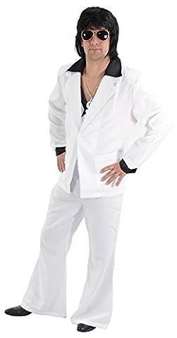 Foxxeo 40133 | cooler 80er Jahre Disco Anzug weiß für Herren Gr. M - XXL, Größe:XL (80 Anzug Kostüm)