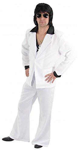Foxxeo 40133 | cooler 80er Jahre Disco Anzug weiß für Herren Gr. M - XXL, Größe:XL (80er Jahre Anzug Kostüm)